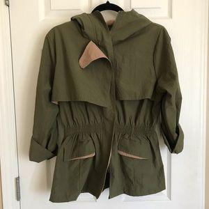 Jackets & Blazers - Army green with khaki trim jacket